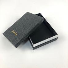 Kundenspezifische Logo schwarze Geschenkboxen mit Deckel