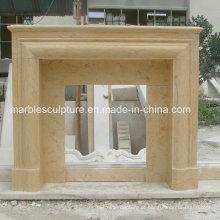 Mantel de mármore da chaminé do estilo simples (SY-MF209)
