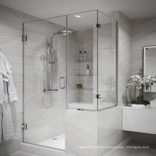 Seawin hotel project raindrop aluminum Hinge Bathroom Frameless glass Shower Door