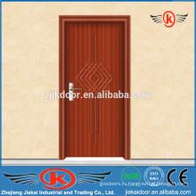 JK-P9055 внутренняя безопасность цельные деревянные двери из ПВХ