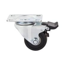 """Rolamento de esfera dupla de 1.5 """"Tipo de travão giratório Roda de rodízio de perfil baixo de nylon"""