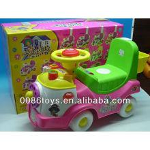 Crianças, empurrar, costas, passeio, brinquedo, car