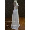 2017 Latest design ornate beaded back low cut orgenza A-line wedding dress