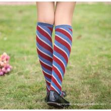 Women′s Lady′s Cotton Knee High Socks Stockings (TA205)
