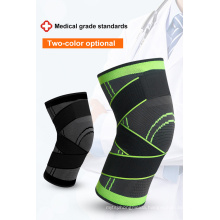 Wholesale Sports Compression Knitted Knee Pads Running Cycling Basketball Breathable Straps Knee Guard