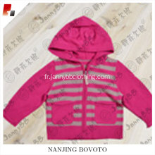 Hot baby girl manteau d'habillement en tricot rose