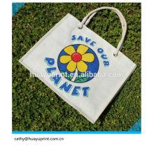 Élégant, petit, de bonne qualité avec sac de jute à cordon à bas prix / sac à main en jute / sacs à jute