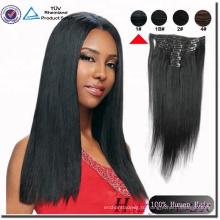 Хайи Циндао 100 Процентов Индийский Реми Человеческого Волоса Клип В Наращивание Волос Для Афро-Американских
