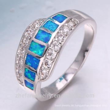 Eleganter Abschnitt Design Zirkon Edelstein 925 Sterling Silber Ring für Frauen