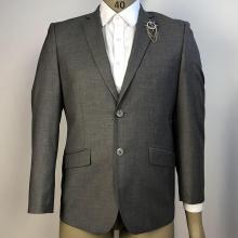 однобортные офисные мужские свадебные костюмы прямого серого цвета