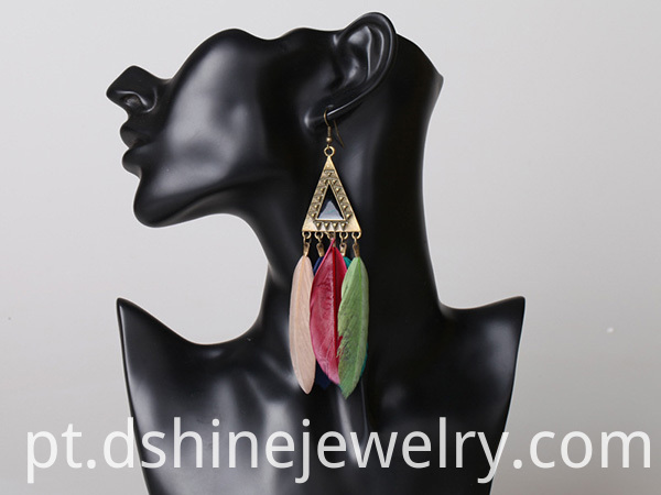 Cheap Long Feather Earrings
