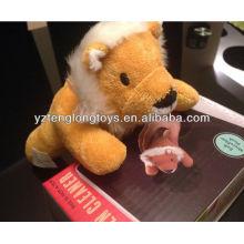 ¡Divertido! Lion Computer TV Screen Cleaner Animal suave de microfibra peluche de peluche