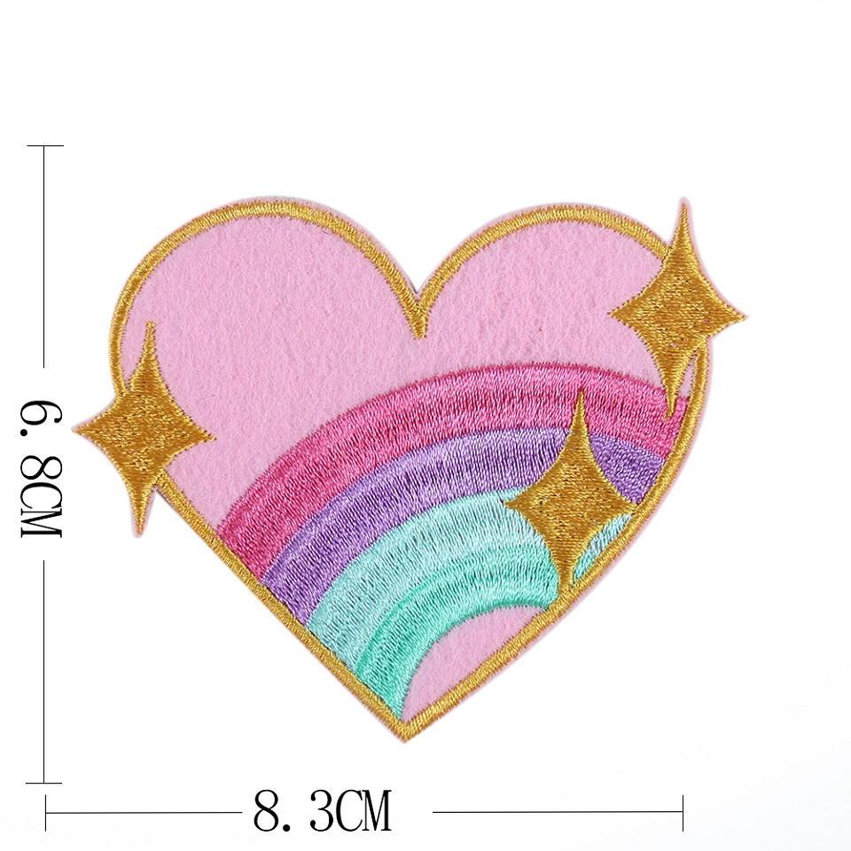 Rainbow Heart Lron On Patch