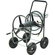 Chariot de bobine de tuyau d'eau de jardin de 4 roues