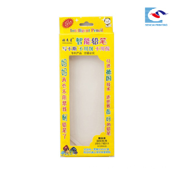 caja de empaquetado de la pluma de los niños baratos con la manija cortada