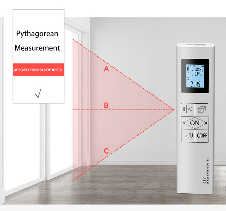 How to measure Bidirectional laser distance meter Pythagorean
