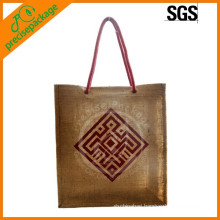 Natural Reusable Jute Shopping Bag For Promotion