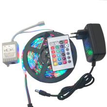 300leds non étanche RGB / blanc / blanc chaud / Bule / rouge / vert / jaune 5m SMD 3528 LED bande avec adaptateur de courant DC 12V 2A