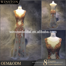 Wholesale new designs beaded waist short evening gowns for girls