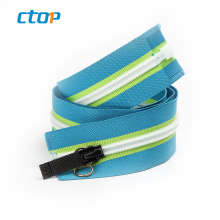 Wholesale factory custom color designer coil nylon zipper zipper for jeans zipper waterproof