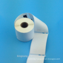 Blank direct thermal adhesive label, thermal adhesive paper label