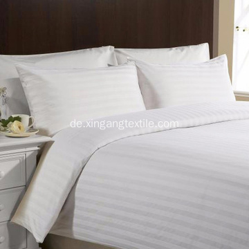 1800TC White Microfiber Stripe Bettbezug Set
