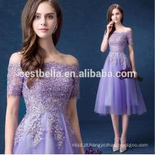 Hotsale Sweet Purple Vestido de dama de honra Off-Shoulder Chiffon Fairy Prom Dresses