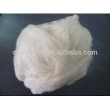 dehaired and carded cashmere fiber light grey 16.5mic/36-38mm