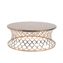 gold fiberglass stainless steel coffee table