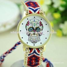 Nuevo reloj esquelético hecho a mano del diseño wooven