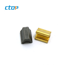 Wholesale factory metal zipper top stop and custom zipper pin and box