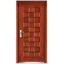 High Quality Cheap Security Steel Wood Armored Door