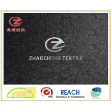 Поли-бархатная ткань с полосатой печатью для одежды (ZCGP066)