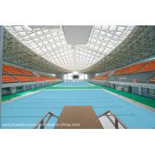 Grand cadre en acier d'envergure d'envergure / botte en acier utilisée pour couvrir la toiture de piscine