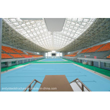 Large Span Steel Space Frame /Steel Truss Used for Swimming Pool Roofing Covering