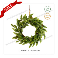 16 Inch Plastic Products Home Artificial Wreath Christmas Decoration
