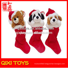 wholesale christmas stockings animal plush christmas stocking
