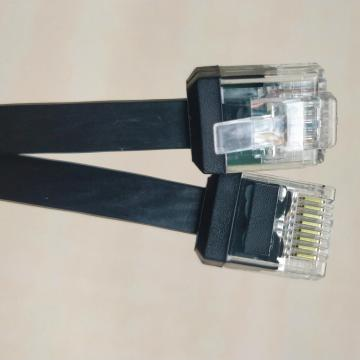 Cable Ethernet CAT6 PLANO con cuerpo corto RJ45