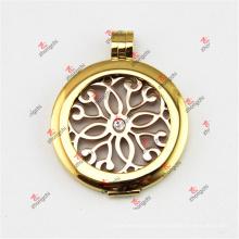 Pingente de ouro de aço inoxidável de 35mm pingentes para colar (SSL50925)