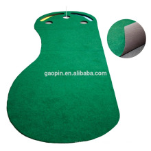 Hot sell Customized 3'x9' Foot-shape Rubber Golf Mat Indoor Mini Golf Putting Mat