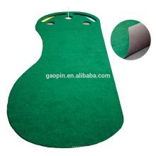 Venda quente Personalizado 3'x9 'Foot-shape De Borracha Tapete De Golfe Indoor Mini Golf Putting Mat