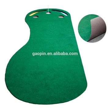 Горячий продавать подгонять 3'x9' нога-формы резиновые для гольфа коврик крытый мини-гольф кладя циновку