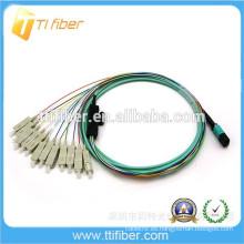 Tipo de cinta de la fuente de la fábrica Cable de remiendo MPO / SC de la fibra óptica
