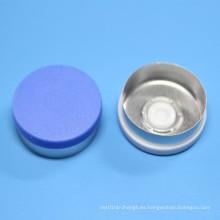 Tapa de plástico de aluminio