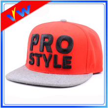 Customize Wool Brim Acrylic Crown Flat Bill Cap