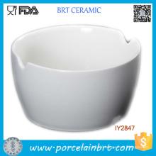 Wholesale White Ceramic Bowl with Chopsticks Rest