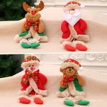 Christmas decorations Christmas with legs pendant Christmas gift small fabric Christmas tree pendant little doll