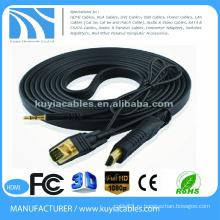 Куйя Позолоченные кабели HDMI для VGA с поддержкой питания и звука 1080P для DHTV XBOX PS3