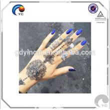 Henné tatouage temporaire autocollant henné bohème style corps humain art tatouage avec prix compétitif