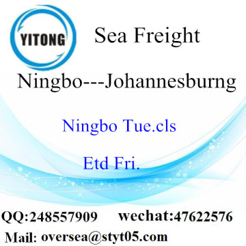 Ningbo Port LCL Consolidation naar Johannesburg